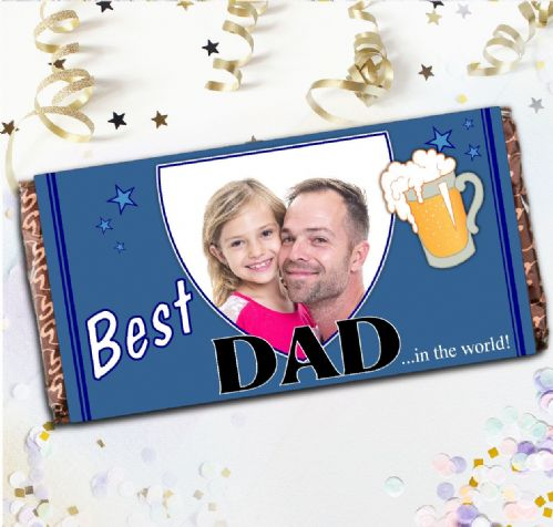 Personalised Fathers Day Milk Chocolate Bar - Gift Idea N10